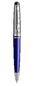 豪华海洋蓝白夹蓝原子笔