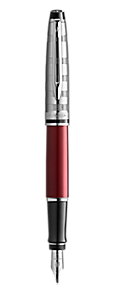 Deluxe Dark Red Fountain Pen CT