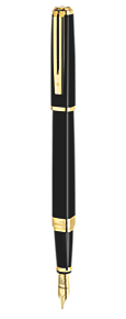 Slim Black Lacquer Fountain Pen GT