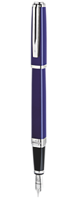 Slim Blue Lacquer Fountain Pen ST