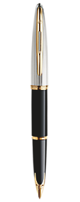 Deluxe Black & Silver Fountain Pen GT
