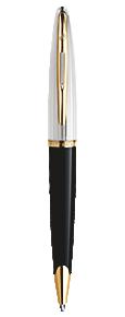 Deluxe Black & Silver Ballpoint Pen GT