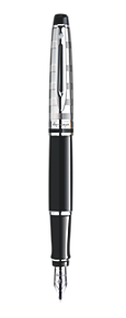 Deluxe Black Fountain Pen CT
