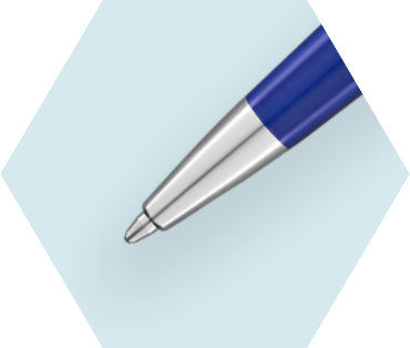 Deluxe Blue Wave Ballpoint Pen CT