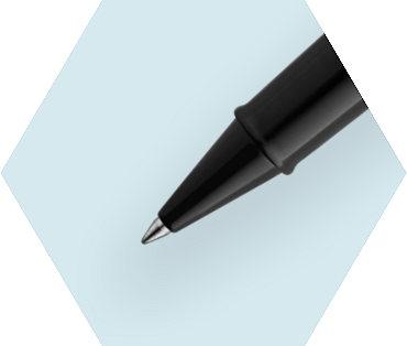 纯黑丽雅白夹宝珠笔