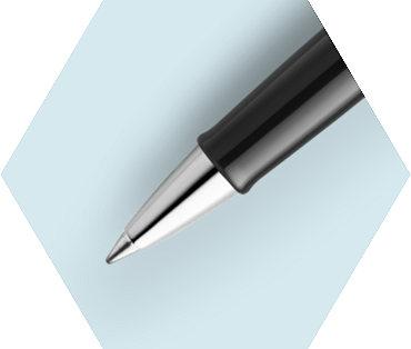 Black Rollerball Pen