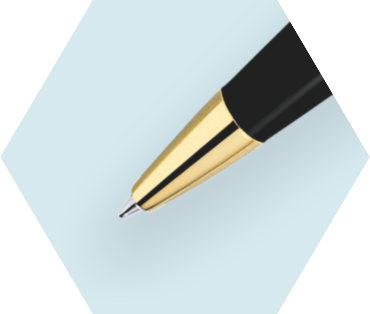 Slim Black Ballpoint Pen GT