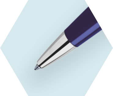 Slim Blue Ballpoint Pen ST