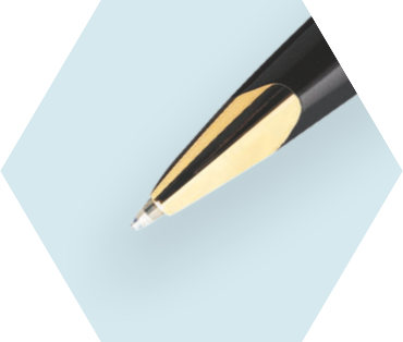 深邃蓝原子笔金夹